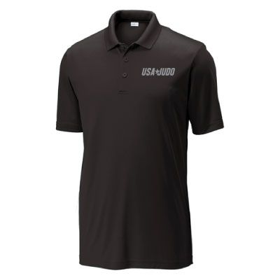 USA Judo Mens Polo Black