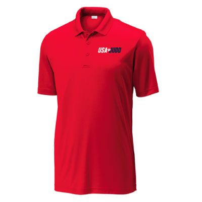 USA Judo Mens Polo Red