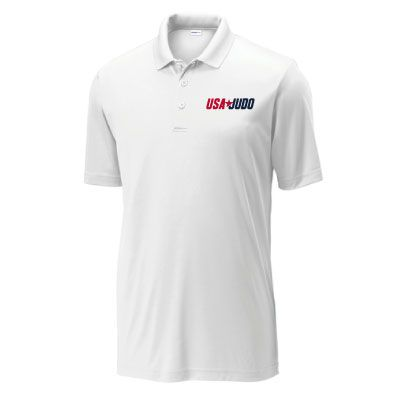 USA Judo Mens White Polo