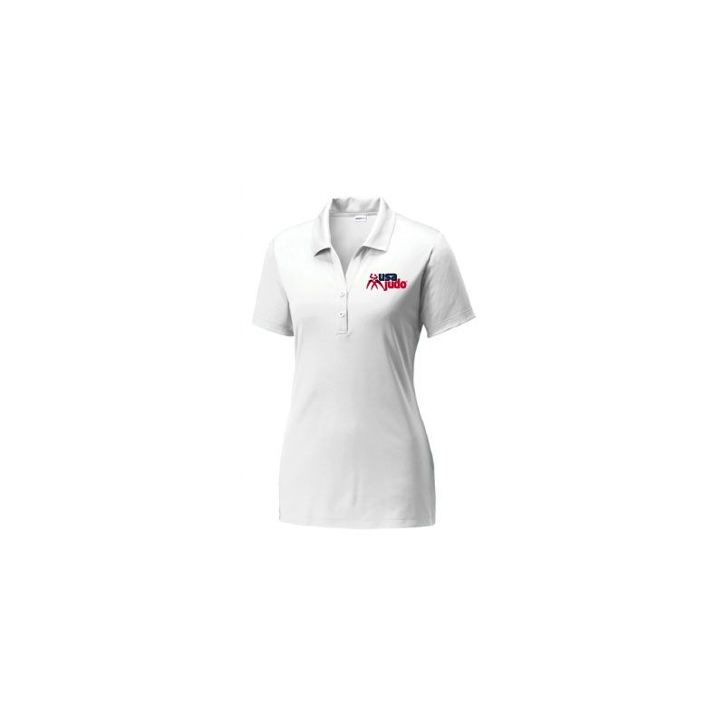 USA Judo Ladies Polo White